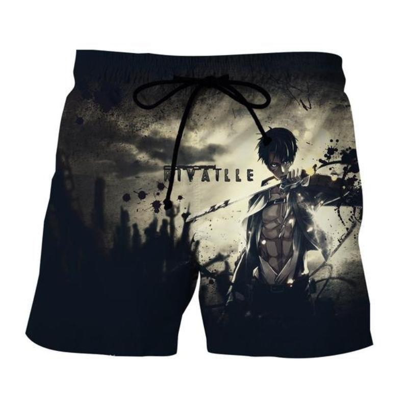 Attack On Titan 3D Printed Rivatlle Levi Attack On Titan Shorts