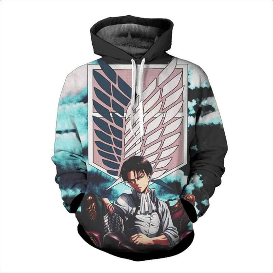 Attack On Titan 3D Printed Scouting Legion Levi Attack On Titan Hoodie