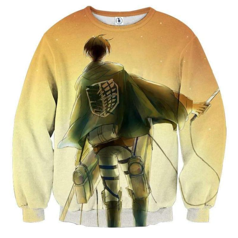 Attack On Titan 3D Printed Stylish Levi Attack On Titan Sweatshirt