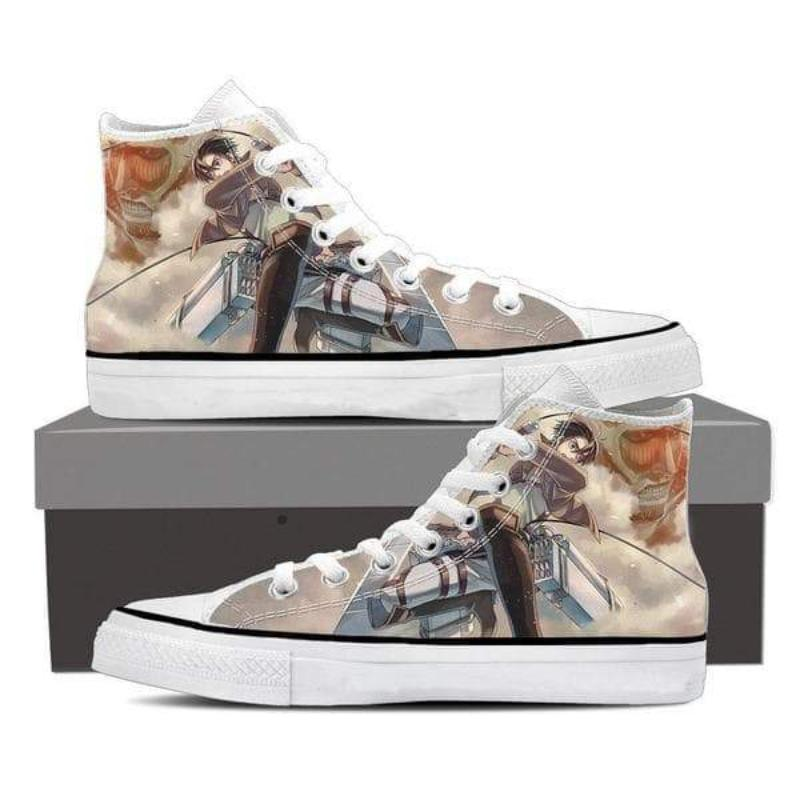 Attack On Titan Eren And Colossal Titan Attack On Titan Shoes