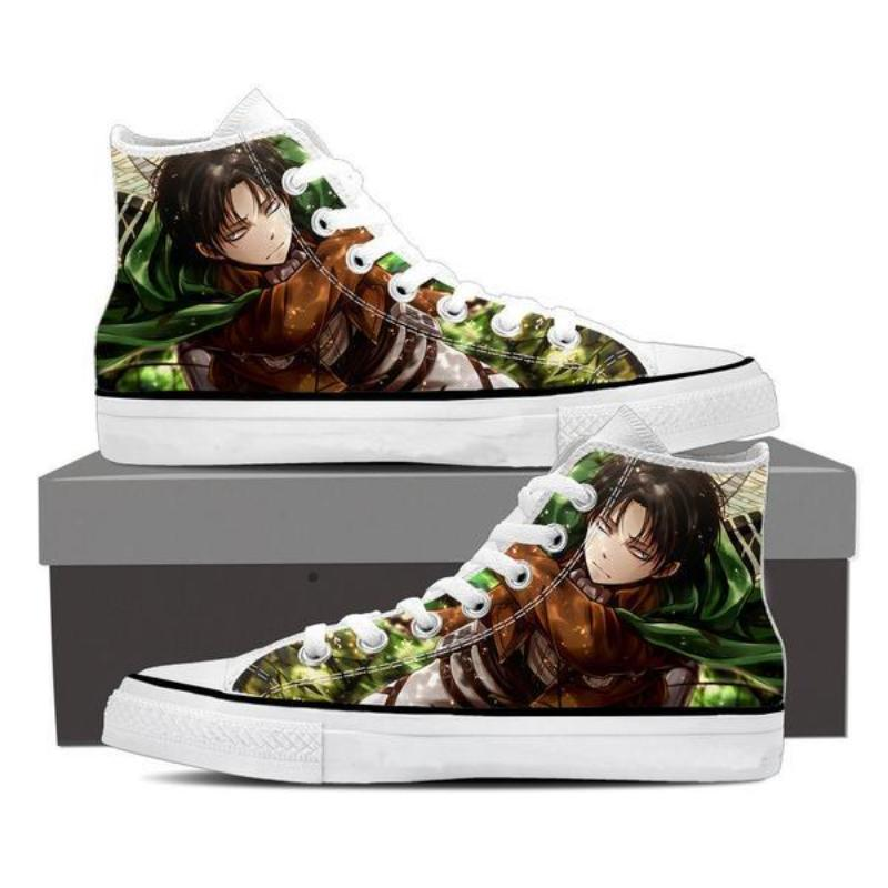 Attack On Titan Levi Green Effect Attack On Titan Shoes