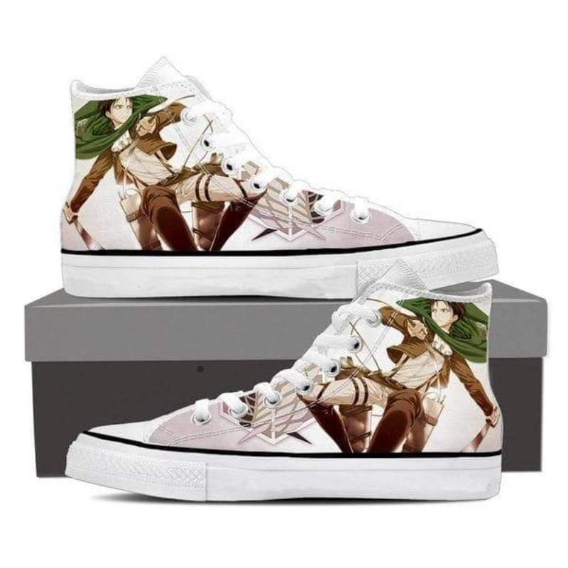 Attack On Titan Levi White Attack On Titan Shoes