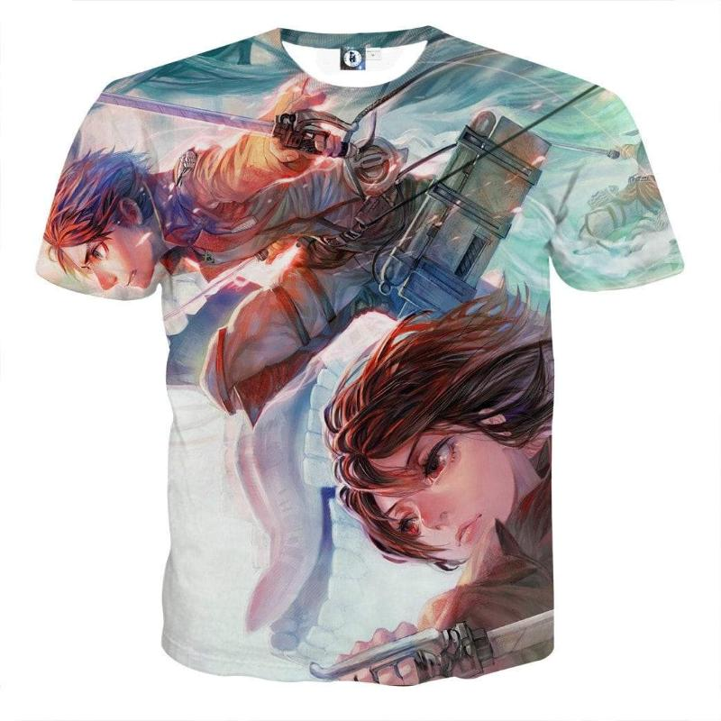 Attack On Titan Mikasa Eren Attack On Titan T Shirt