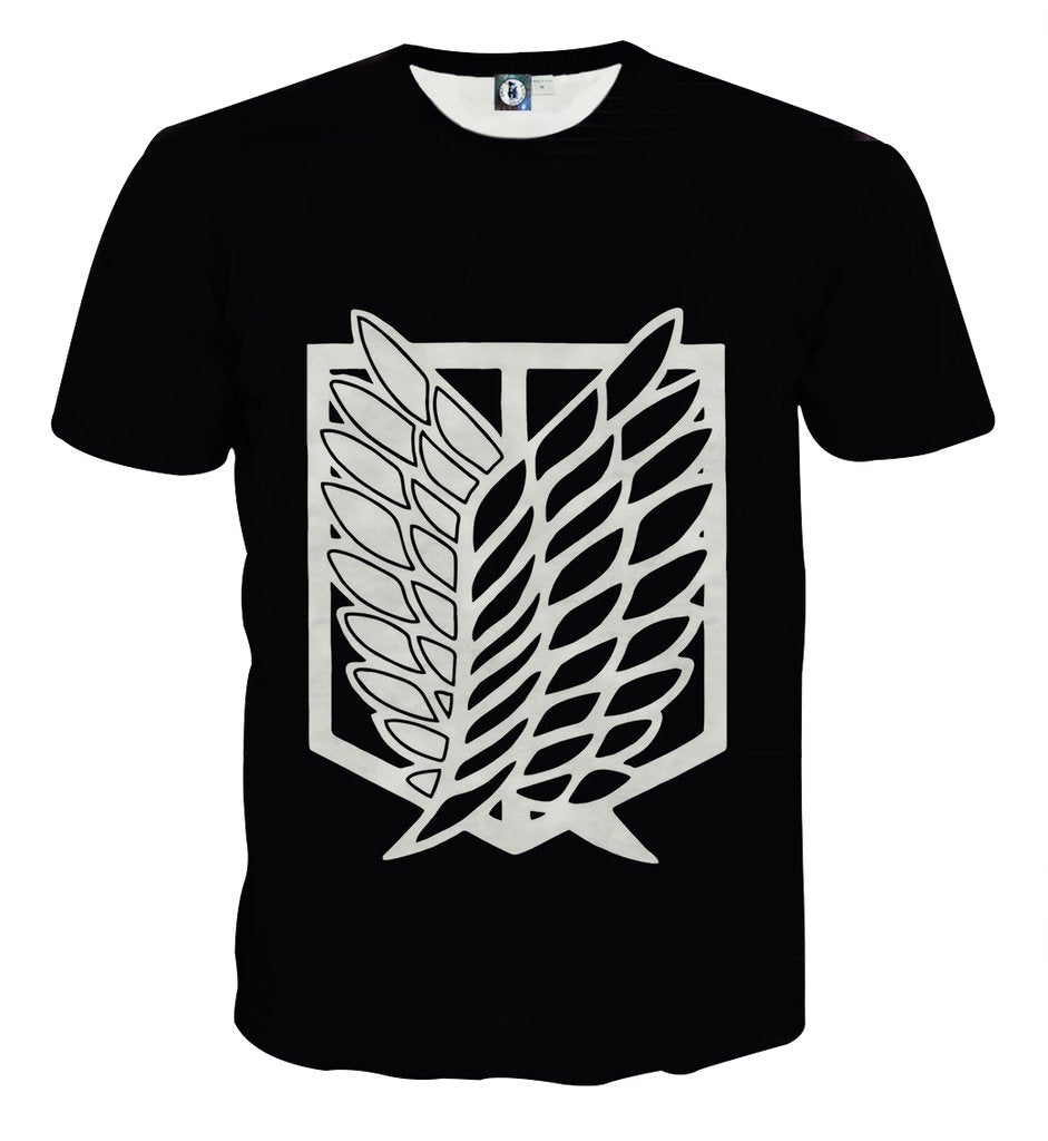 Attack On Titan Scouting Legion 3D Printed Attack On Titan T Shirt