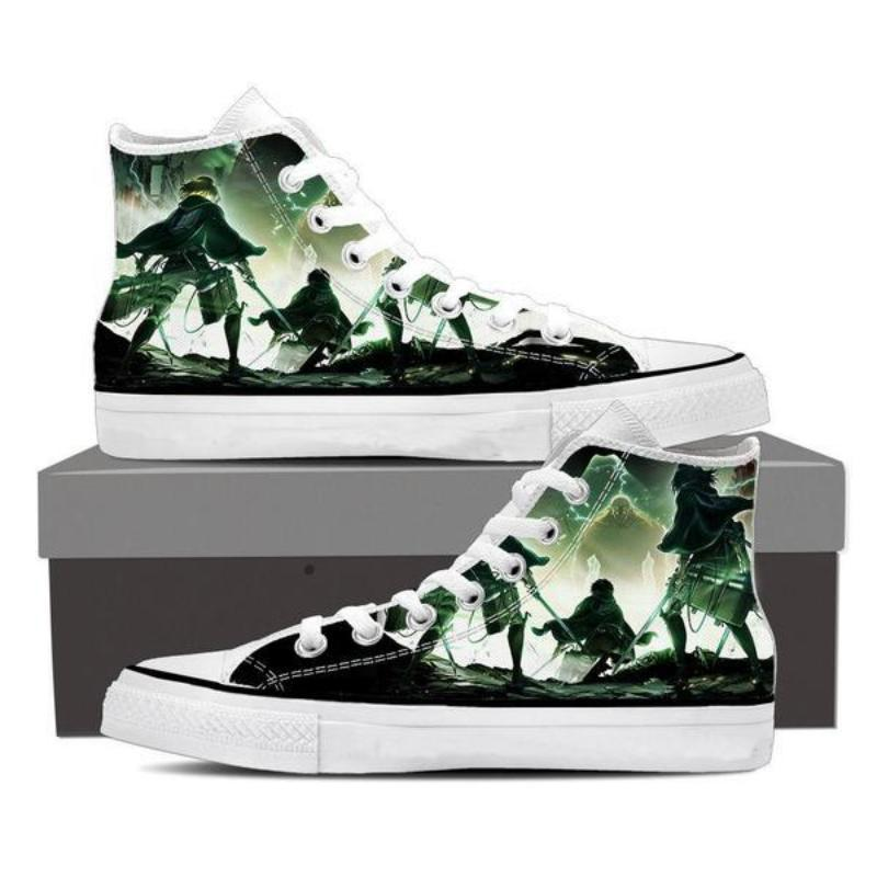 Attack On Titan Titan Vs Soldiers Attack On Titan Shoes