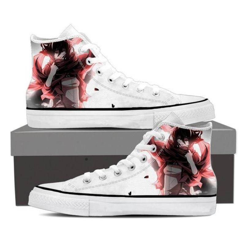 Attack On Titan White Mikasa Attack On Titan Shoes