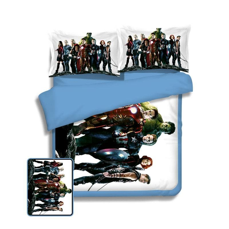 Avengers 2 White Cover Avengers Bed Cover