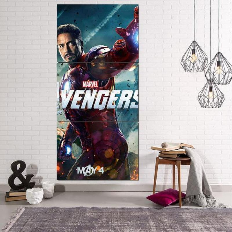 Avengers Iron Man Canvas 3D Printed
