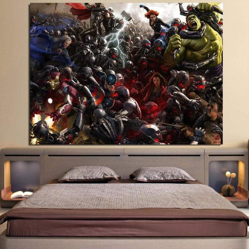 Avengers Age Of Ultron 3D Printed Avengers Canvas