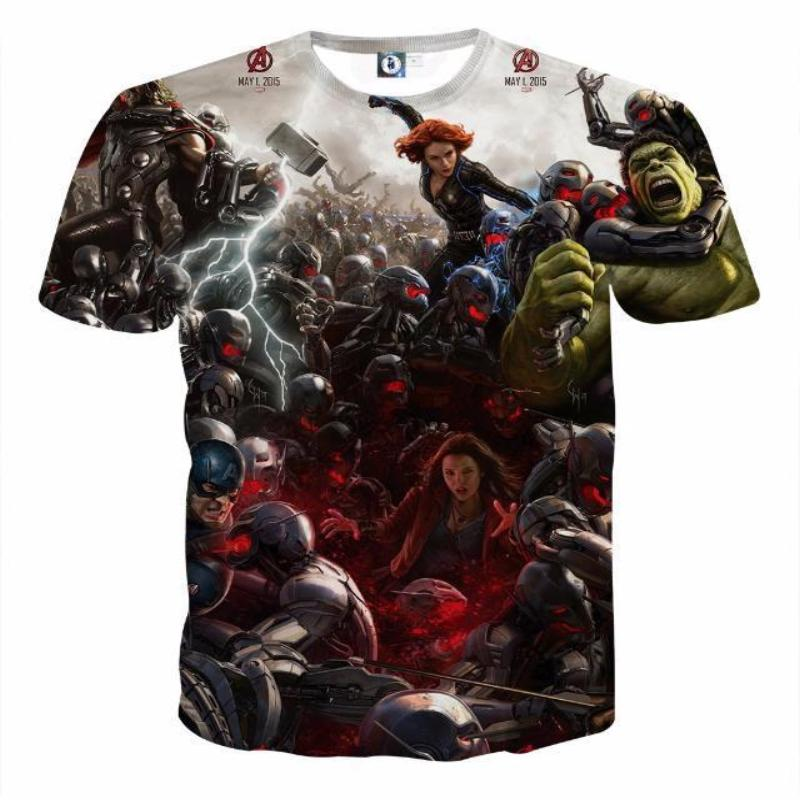 Avengers Age Of Ultron 3D Printed Avengers T Shirt