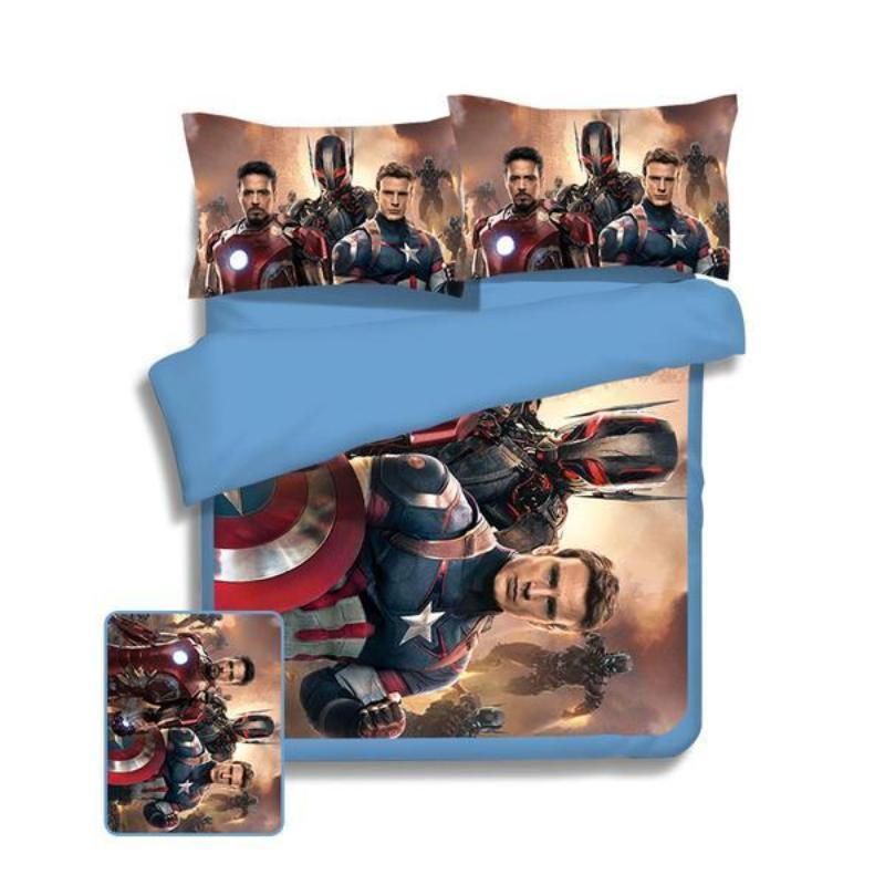 Avengers Age Of Ultron Captain America & Iron Man Bed Set