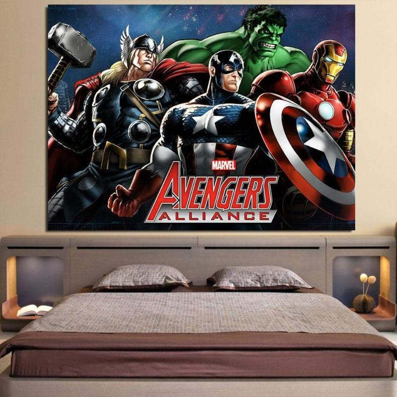 3D Printed Avengers Canvas Alliance Wall