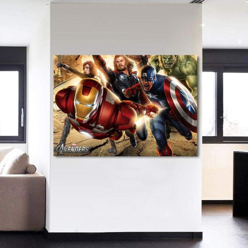 Avengers Assemble Cool Canvas 3D Printed