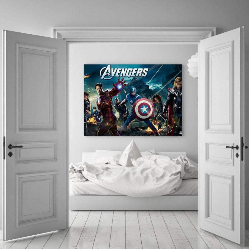 Avengers Assemble Style 3D Printed Avengers Canvas