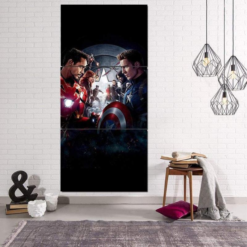 Avengers Civil War 3D Printed Avengers Canvas