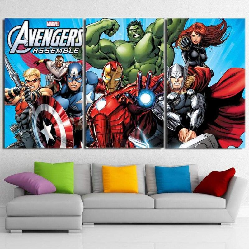 Avengers Comic 3D Printed Avengers Canvas