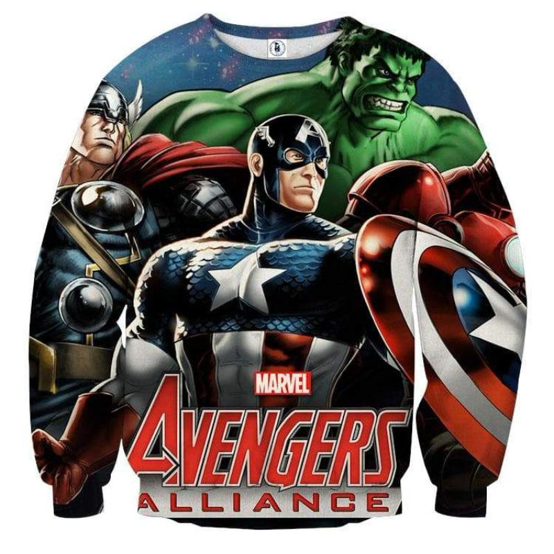 Avengers Comic Version 3D Printed Avengers Sweatshirt
