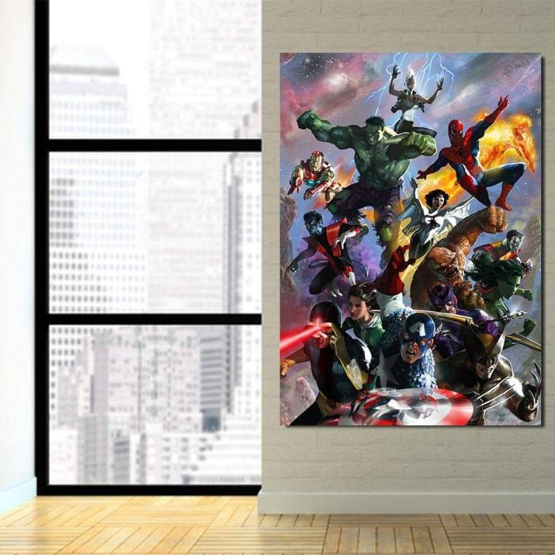 Avengers Complete Super 3D Printed Avengers Canvas