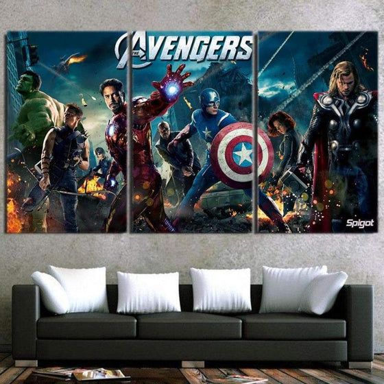 Avengers Cool 3D Printed Avengers Canvas