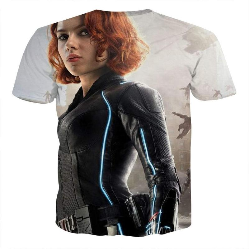 Avengers Cool Black Widow 3D Printed Avengers T Shirt