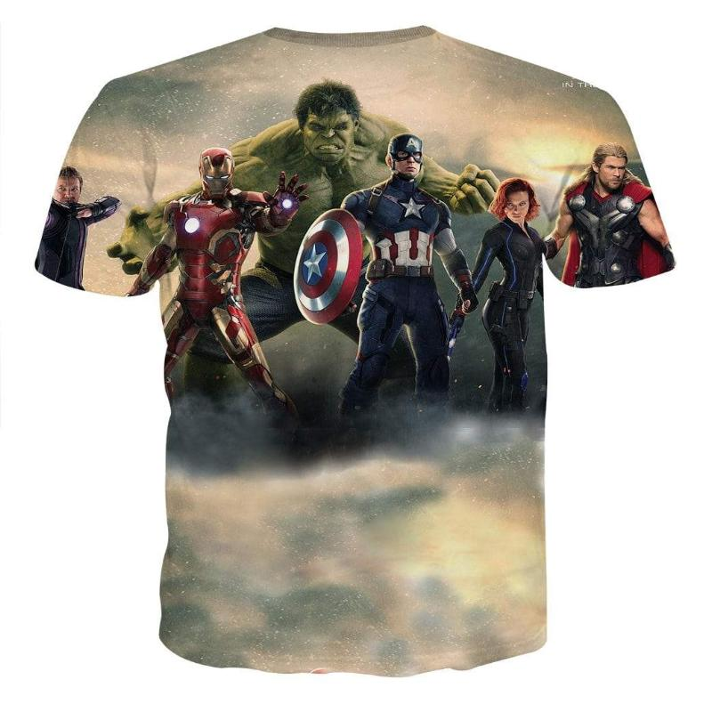 Avengers Cool Team 3D Printed Avengers T Shirt
