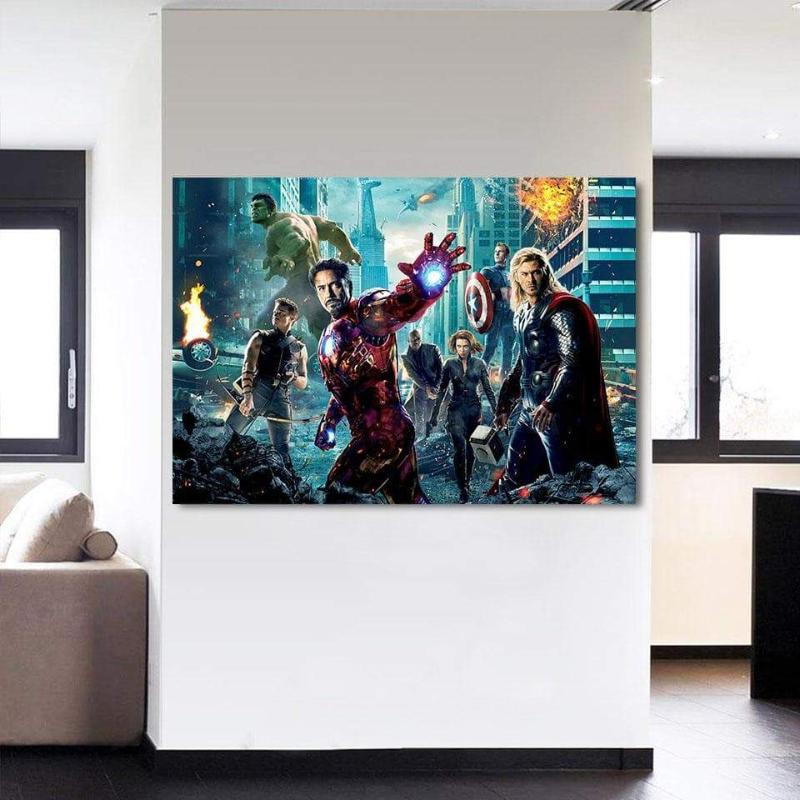 Avengers Cover Wall 3D Printed Avengers Canvas
