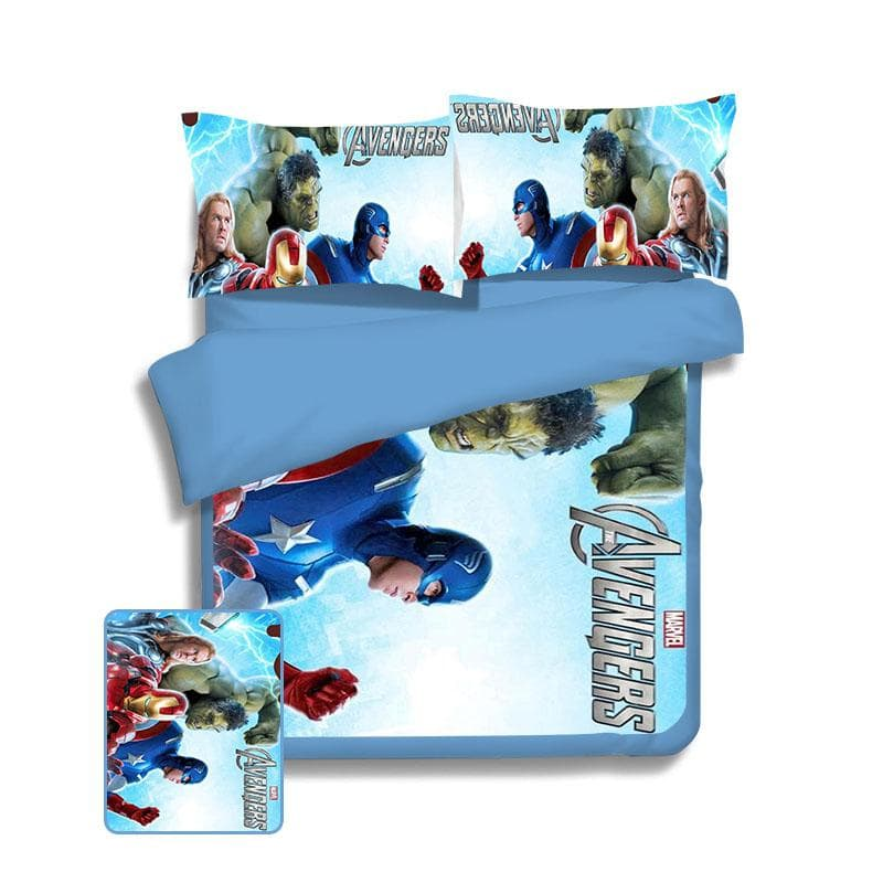 Avengers Light Blue Avengers Bed Cover