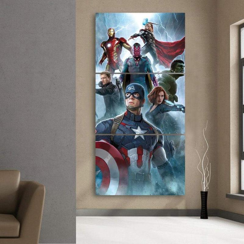 Avengers Splash Ultron 3D Printed Avengers Canvas