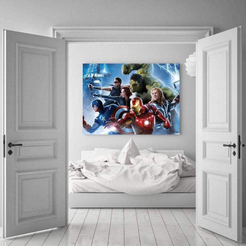 Avengers Themed Wall 3D Printed Avengers Canvas