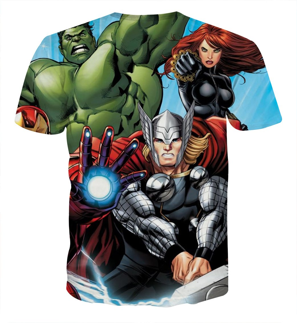 Avengers Thor Hulk And Black Widow Hulk T-Shirts