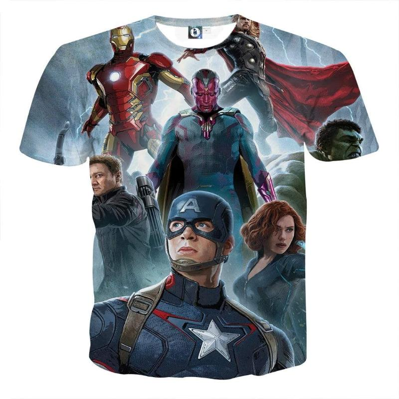 Avengers with Oracle 3D Printed Avengers T Shirt