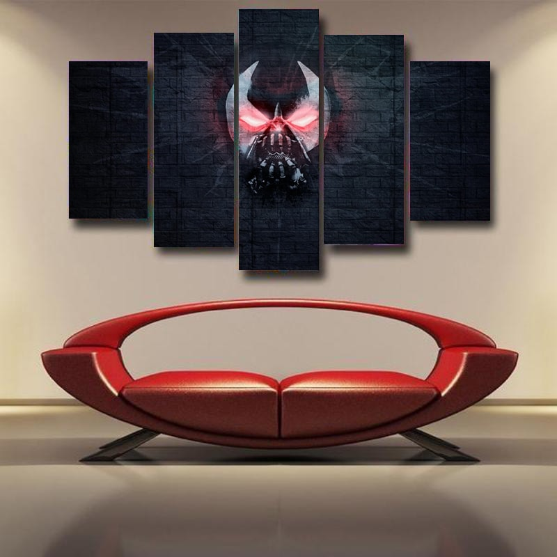 Bane Canvas Art Wall Print Red&Gray