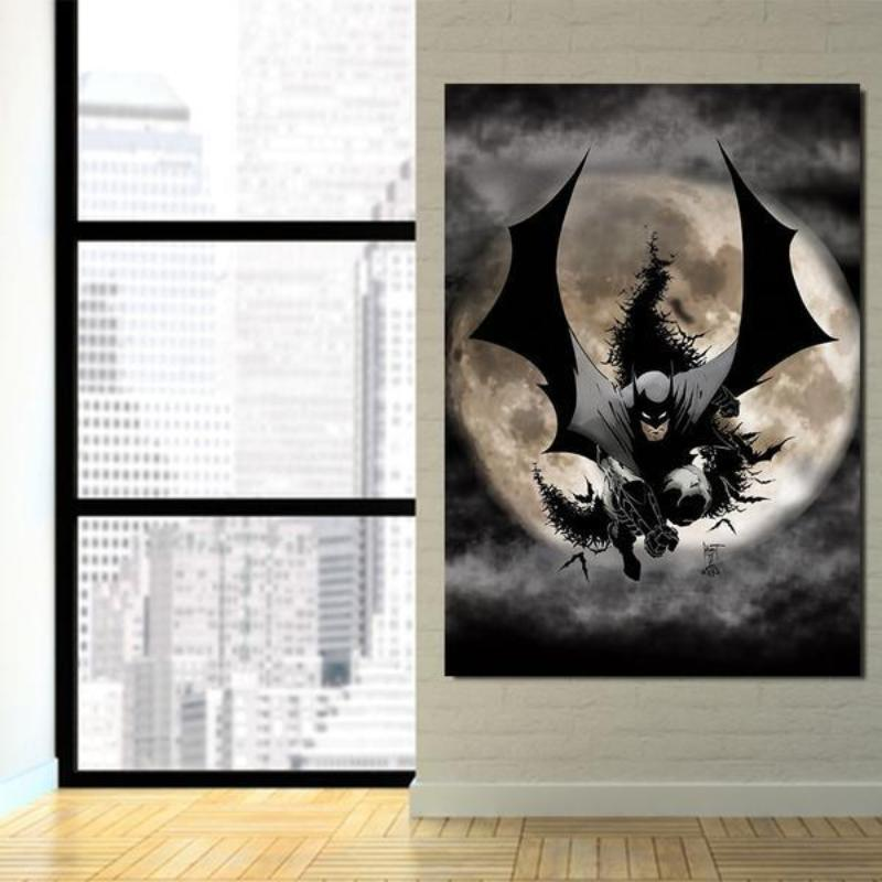 Batman Framed Canvas 3D Printed