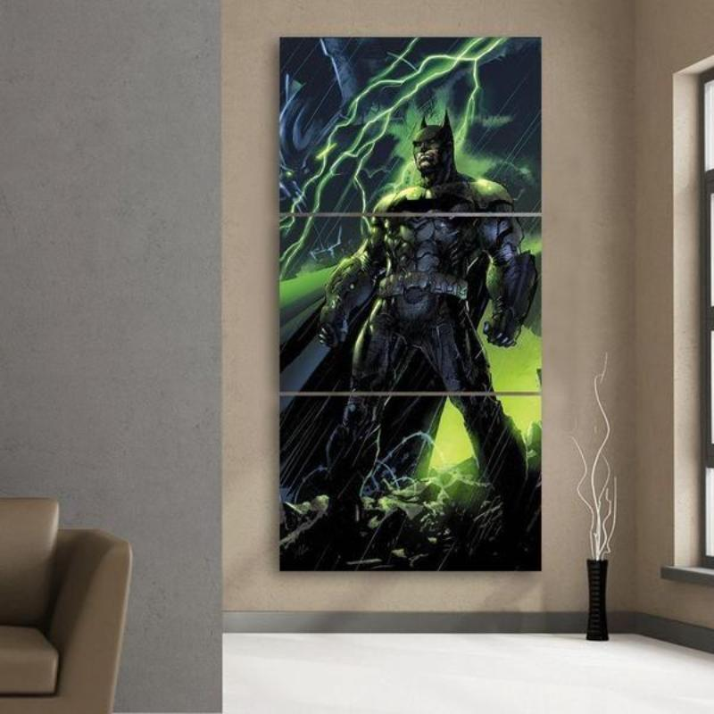 Batman 3D Printed Framed Canvas