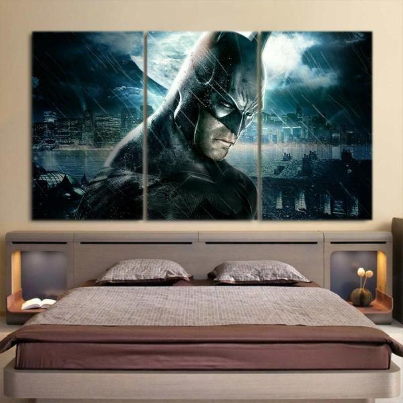 Batman 3 Set Amazing 3D Printed Batman Framed Canvas