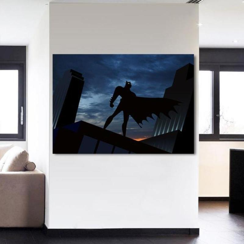 Batman Canvas Amazing Rescue 3D Printed Framed Canvas