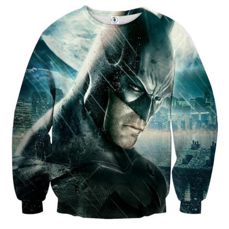 Batman Angry 3D Printed Batman Sweatshirt