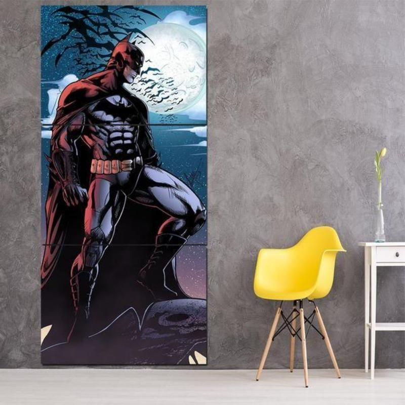 Batman Canvas Angry Look 3D Printed Framed Canvas
