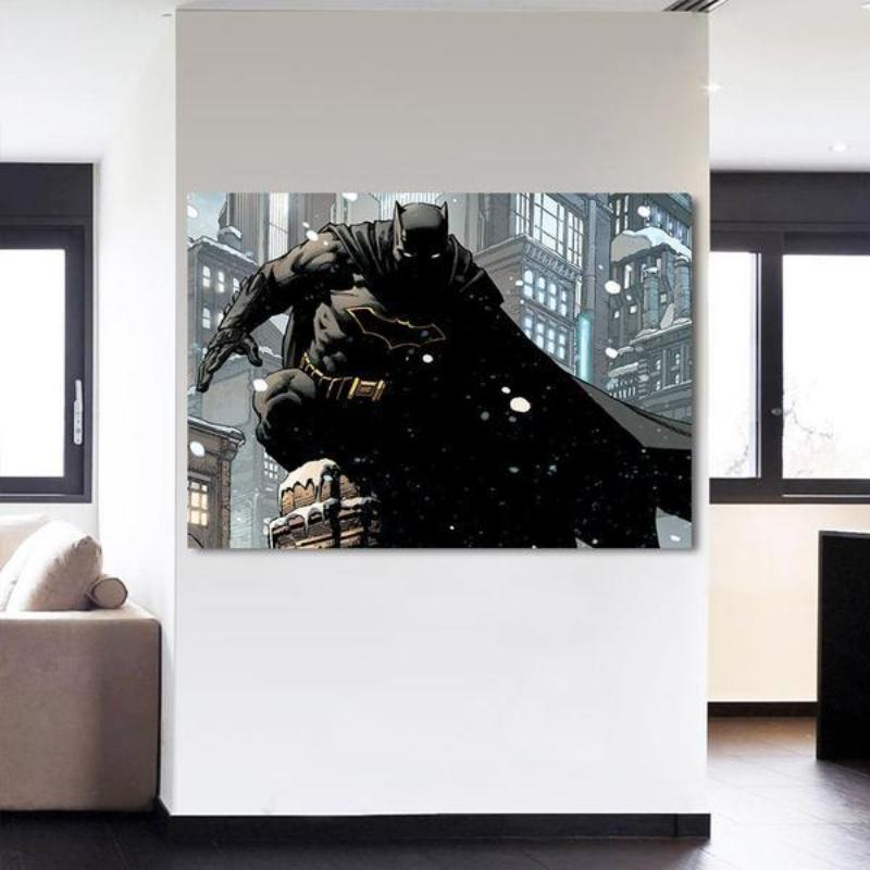 Batman Canvas Attractive Wall 3D Printed Framed Canvas