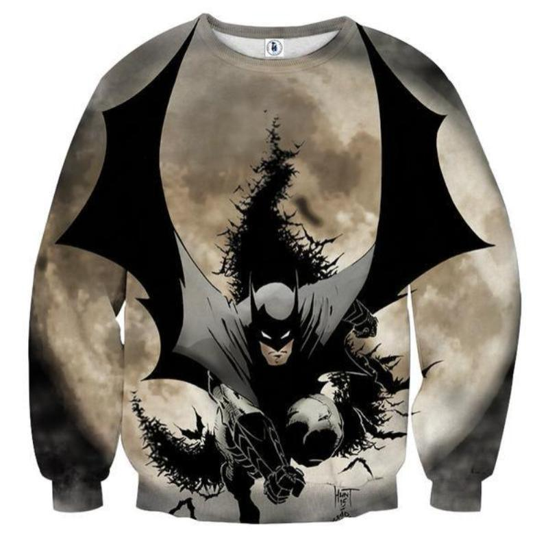 Batman Bat Invades 3D Printed Batman Sweatshirt