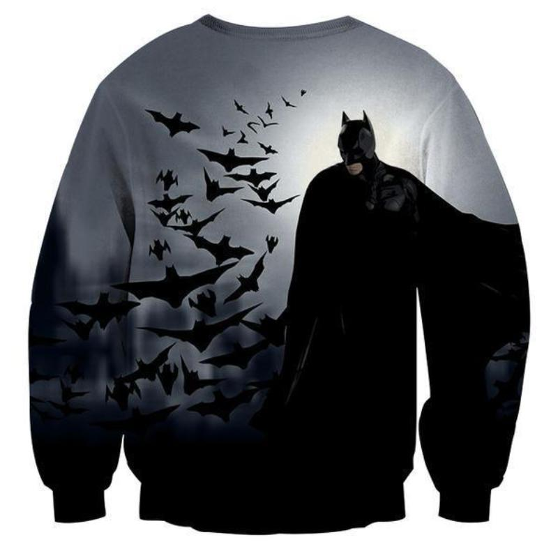 Batman Bats Are Angels 3D Printed Batman Sweatshirt