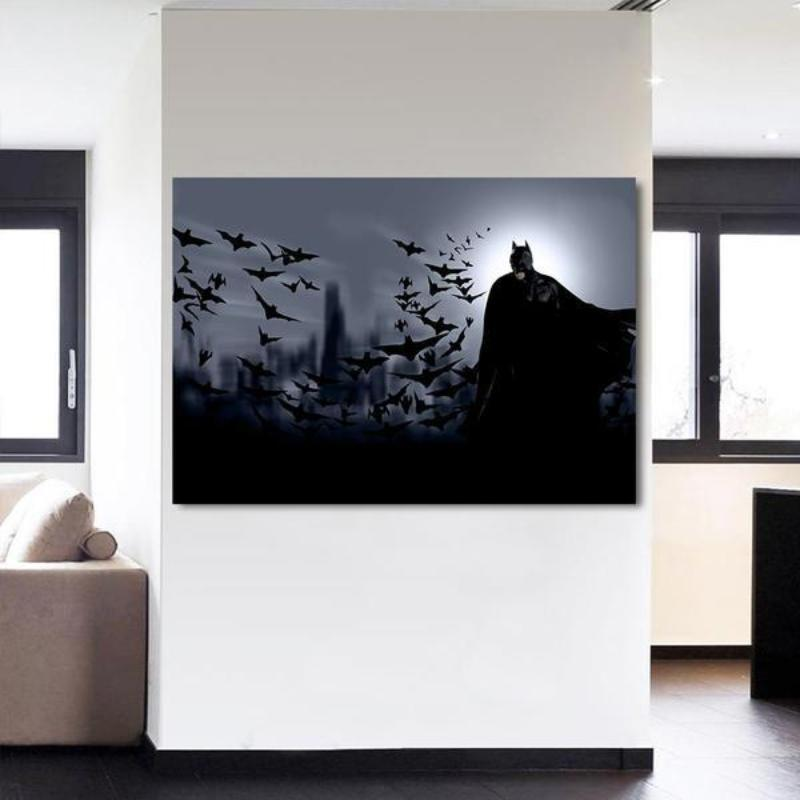 Batman Bats Are The Angels 3D Printed Batman Framed Canvas