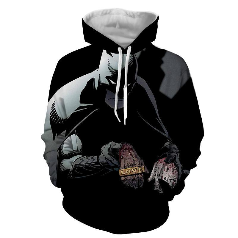 Batman Black 3D Printed Batman Hoodie