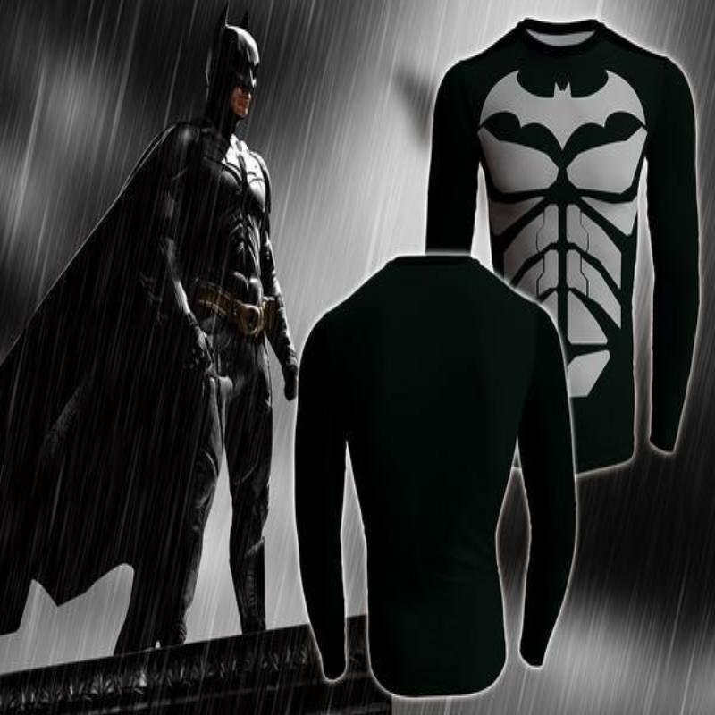Batman Body Armour 3D Printed Batman Long Sleeve Shirt