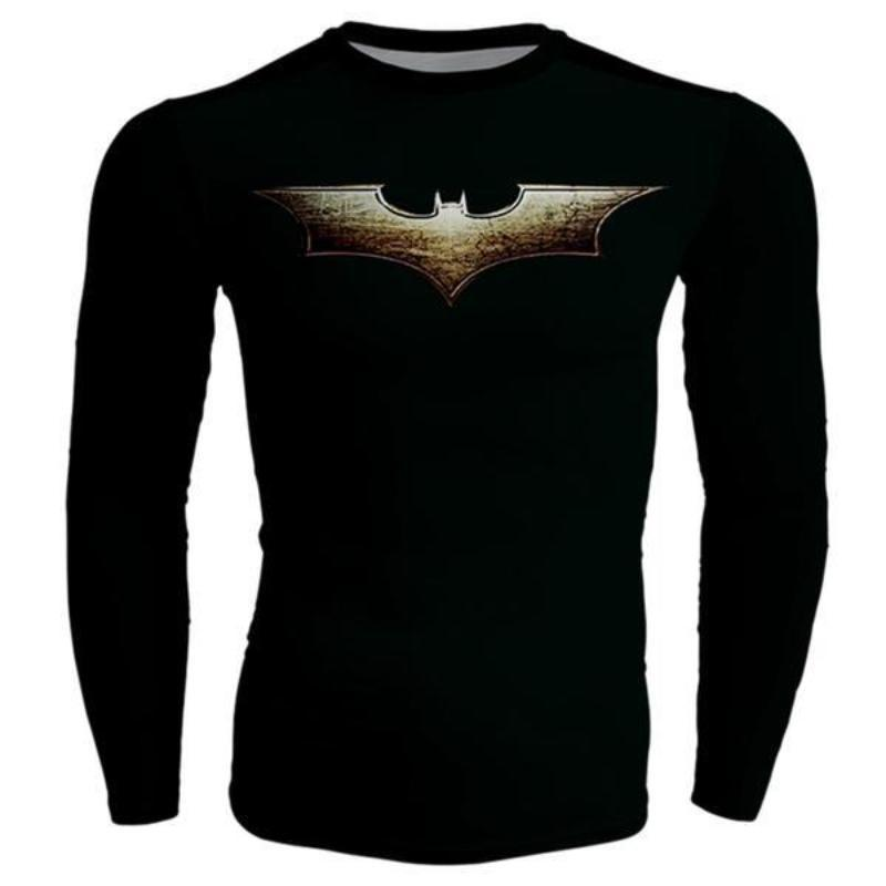 Batman Long Sleeve Shirt Bold Black Logo 3D Printed