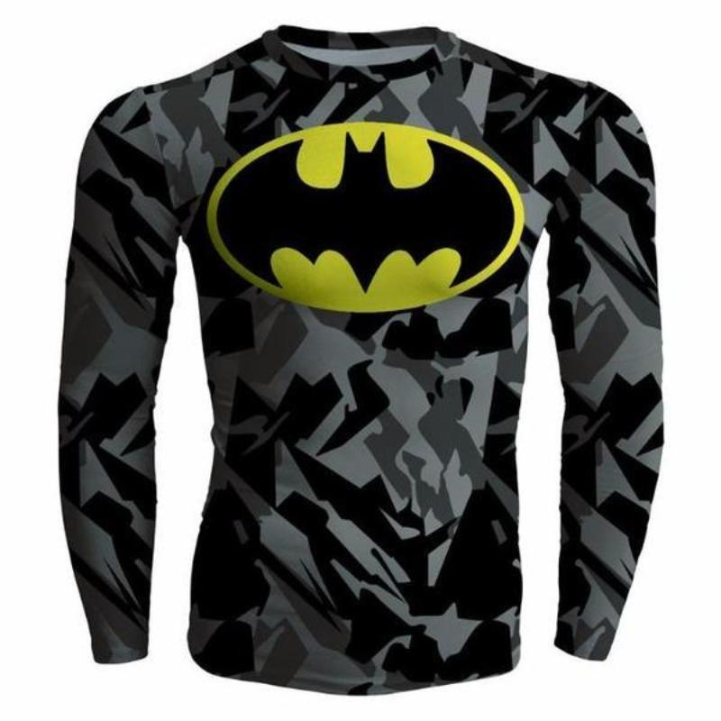 Batman Camoflouge 3D Printed Batman Long Sleeve Shirt