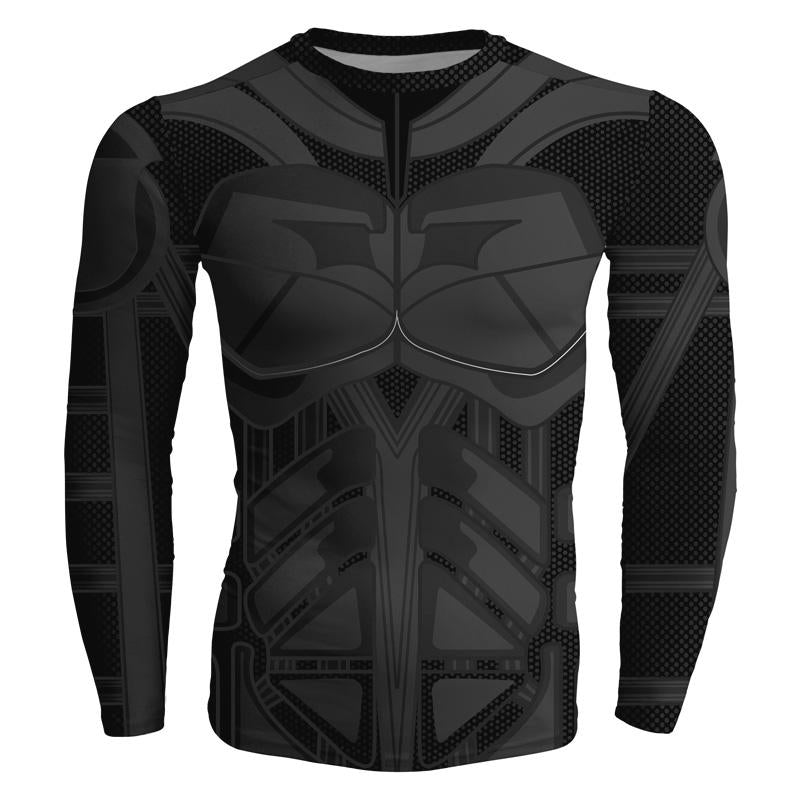 Batman Darkskin 3D Printed Batman Long Sleeve Shirt