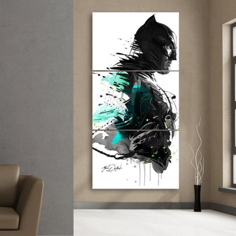 Batman Faded 3D Printed Batman Framed Canvas