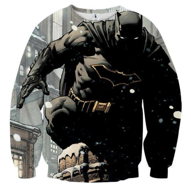 Batman Kill Them All 3D Printed Batman Sweatshirt