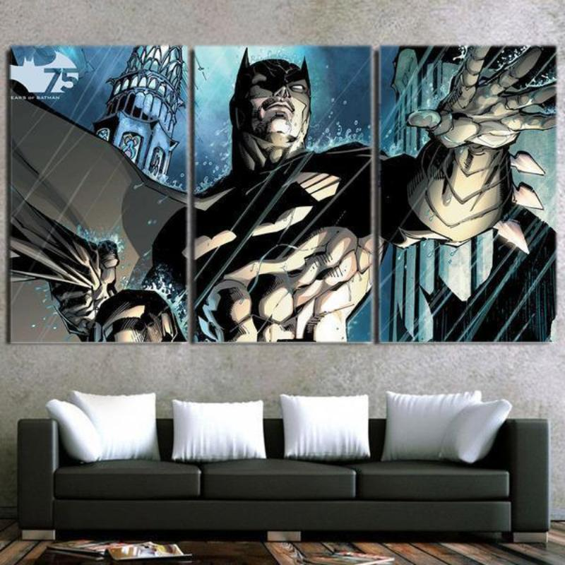 Batman Canvas Let Them All Come Batman Framed Canvas